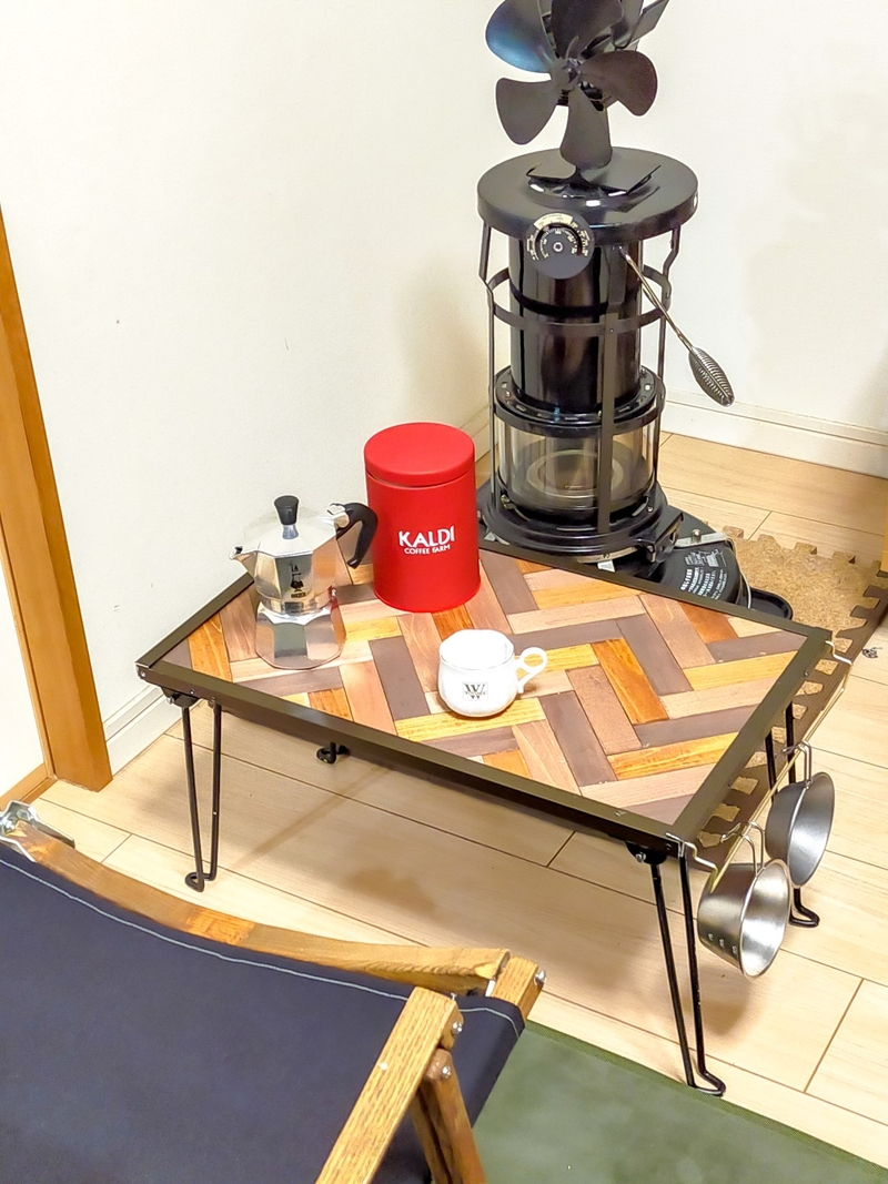 キャンプで使うコーヒーテーブルを自作してみた