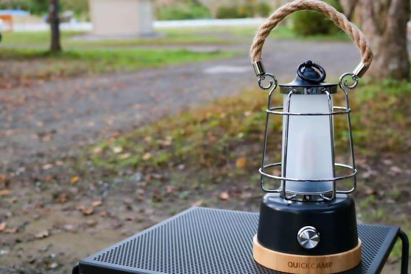 QUICKCAMPのアンティーク風LEDランタン「メノーラ」にひとめぼれしました