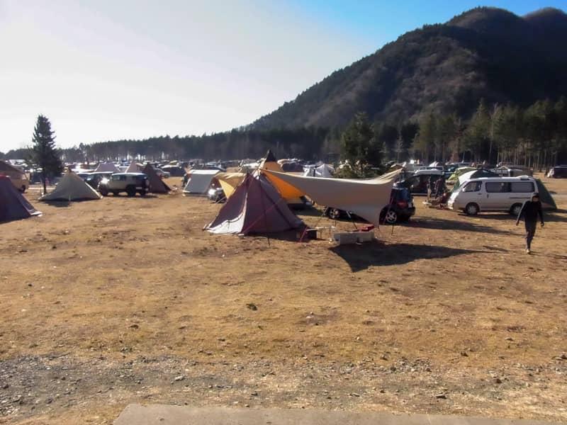 冬なのにキャンプ場がいっぱいだった時