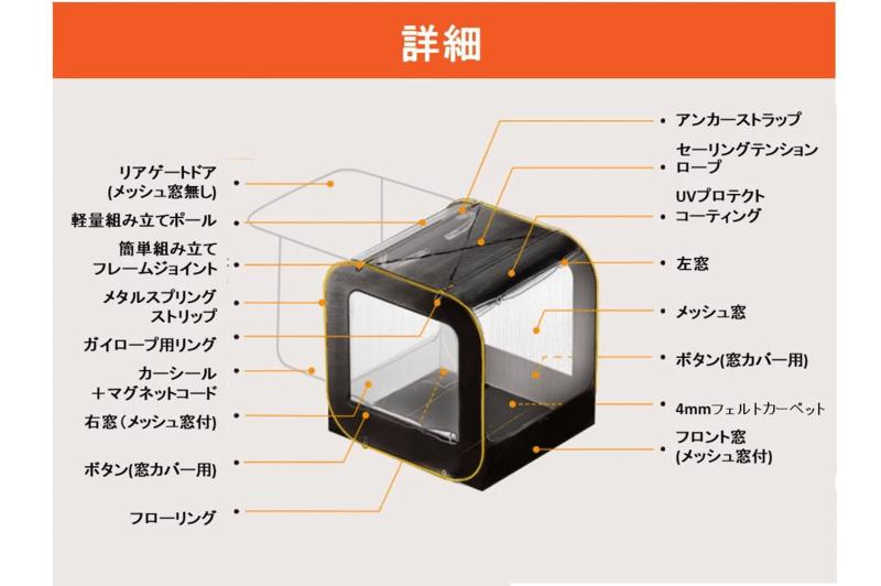 車連結型ポップアップテント「CARSULE」-5