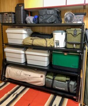 キタジマのスチールラックでキャンプ用品の整理&収納方法を見直してみた