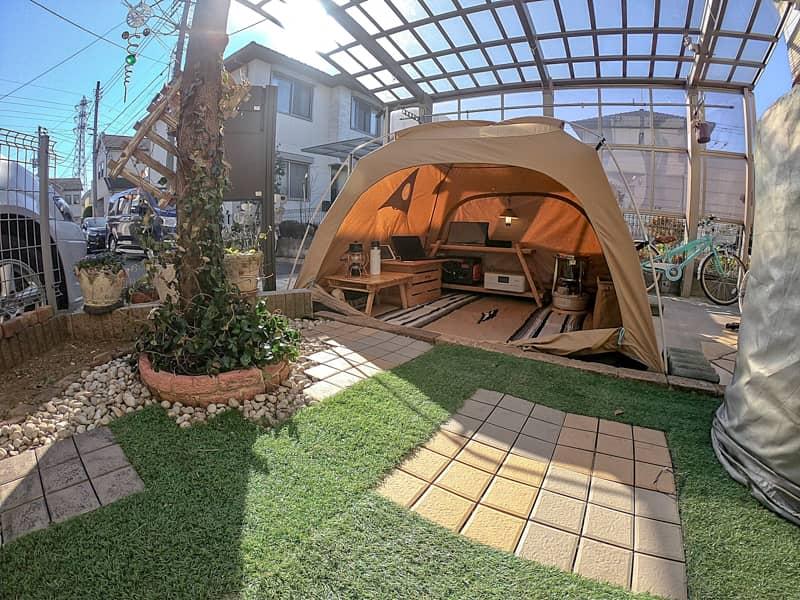 お庭テント
