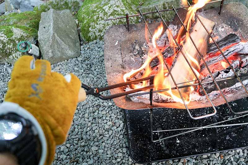 ピコグリル760で焚き火