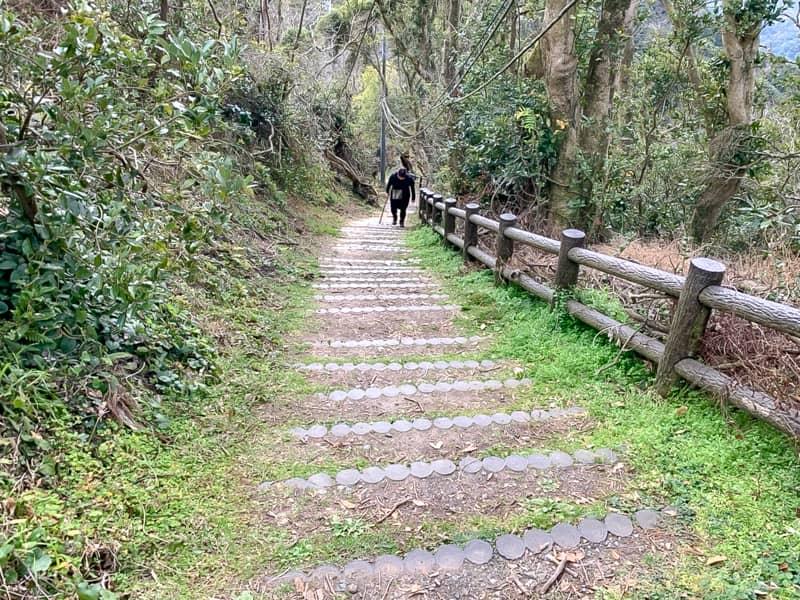 北峰思った以上に長くて急な階段