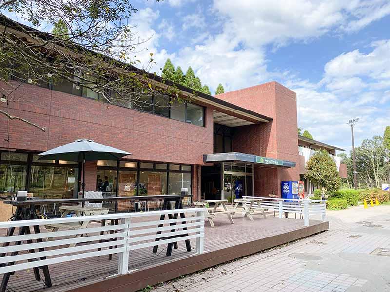 昭和の森フォレストビレッジのロッジ外観