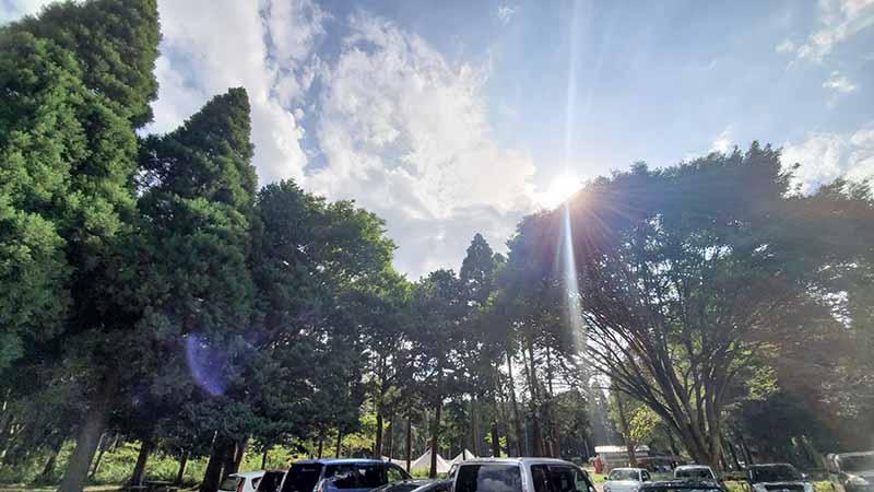昭和の森フォレストビレッジの空