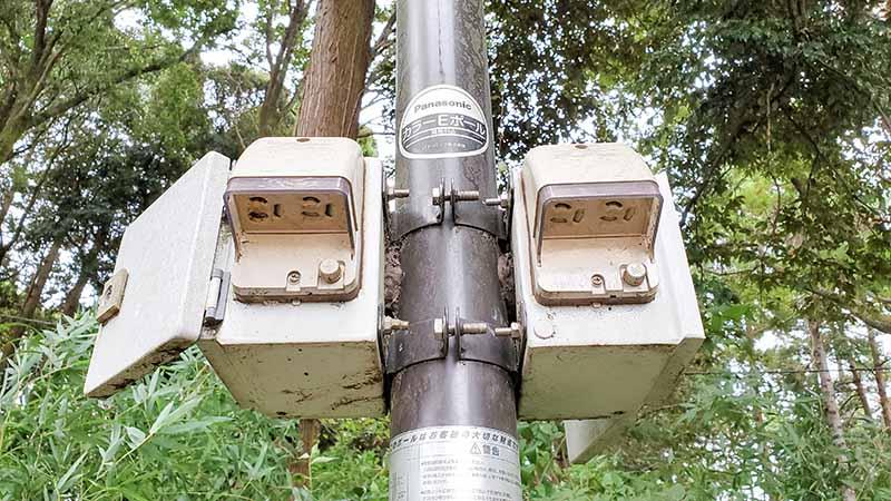 昭和の森フォレストビレッジの電源コンセント