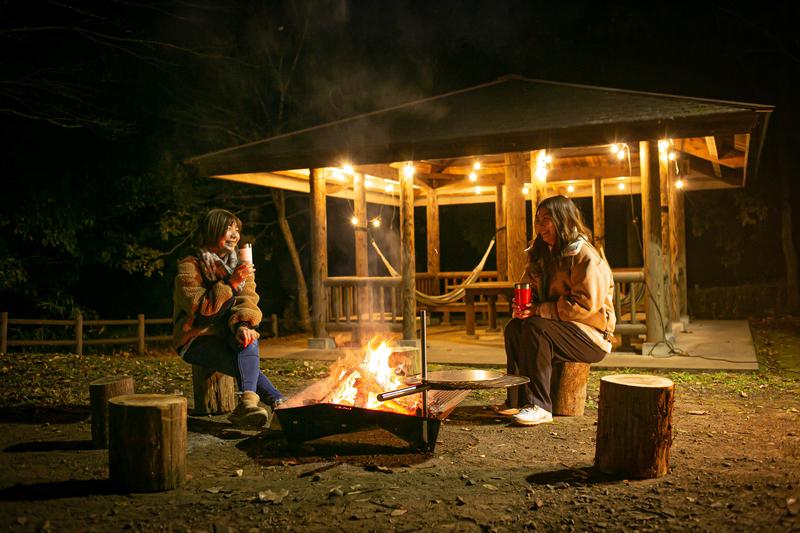 犬飼リバーパークの焚き火サイト