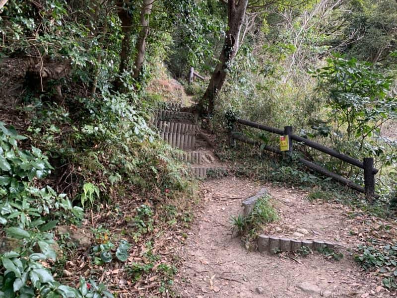 6合目急な階段