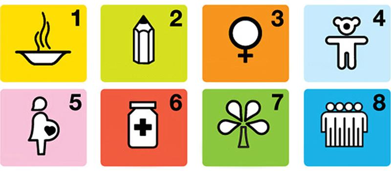 MDGsの8つの目標
