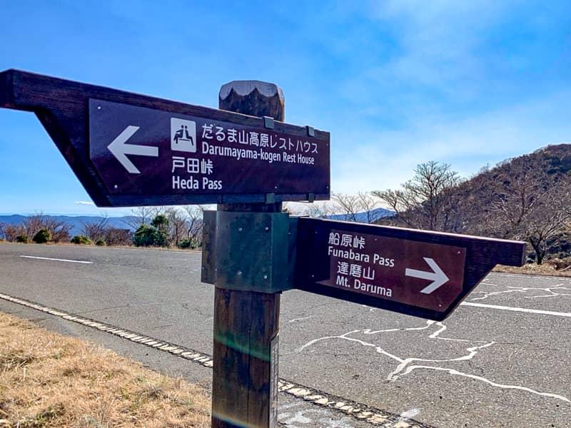 「達磨山」登山コース
