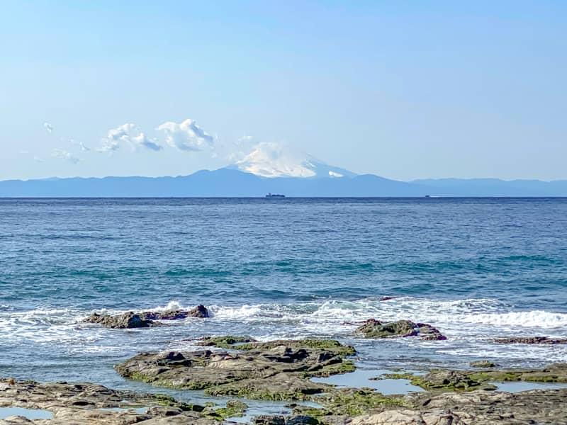 お台場海浜庭園キャンプ場からの富士山の眺め