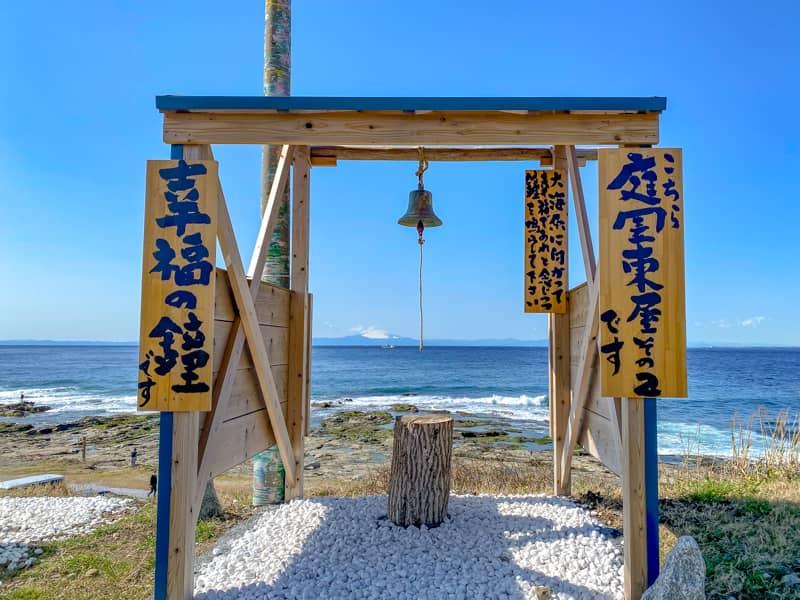 お台場海浜庭園キャンプ場に設置された幸福の鐘