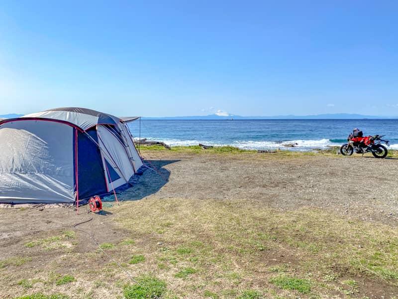 お台場海浜庭園キャンプ場のベストポジション