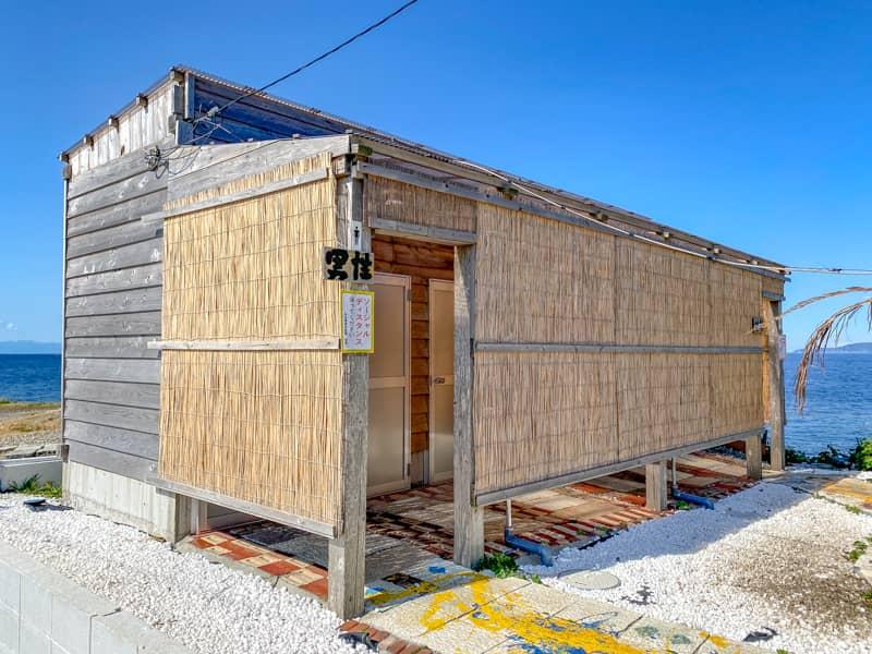 お台場海浜庭園キャンプ場の新設されたトイレ