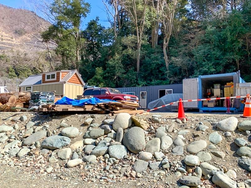 キャンプ場の復興はまだ途中段階