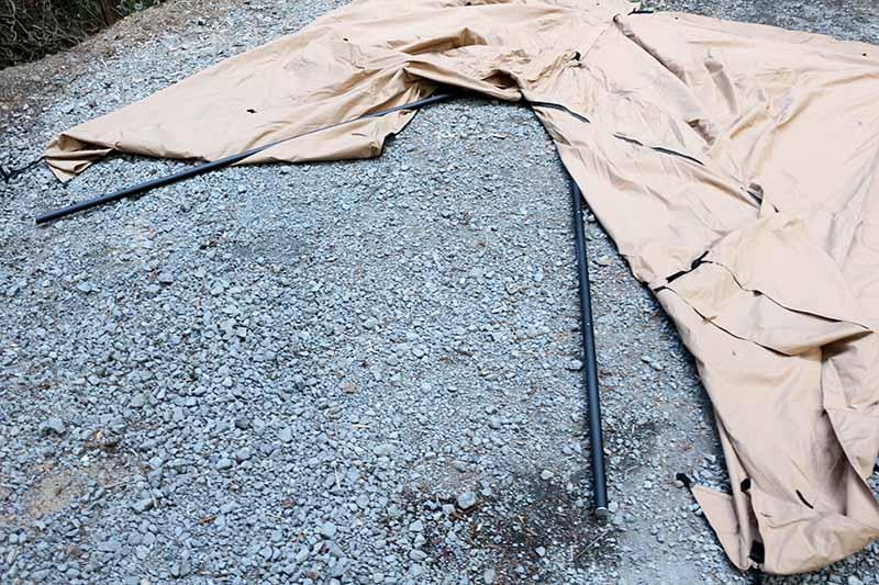 パンダTCにフタマタノキワミのポールを立てる手順