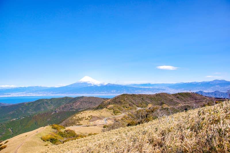 下山するときは富士山が正面にあるので最高の景観です