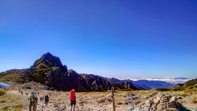 宝剣岳の山容