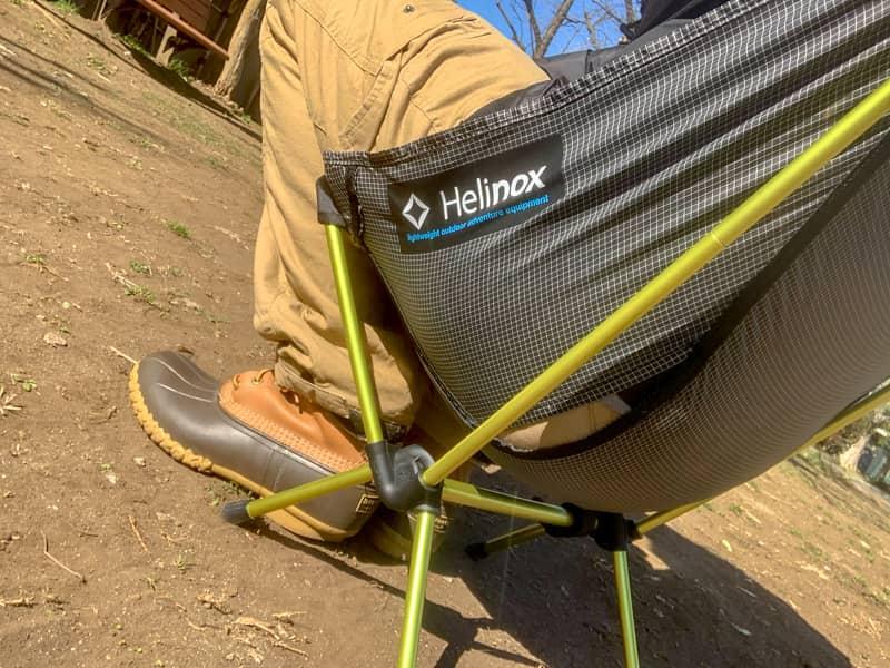 座り心地抜群なヘリノックスチェア