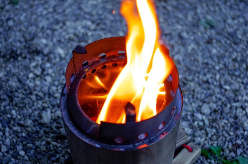 焚き火が楽しい