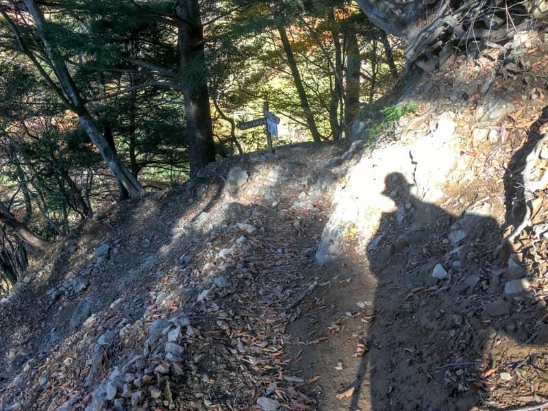 登山コース3分の1地点