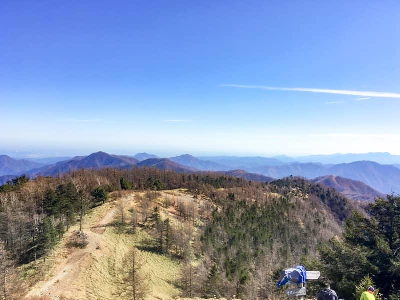 雲取山山頂からの景色