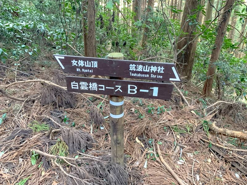 3.白蛇弁天までは標識に「B-1」と書かれています