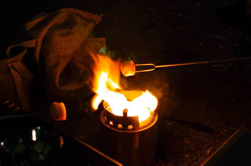 マシュマロを焼くのはキャンプのド定番