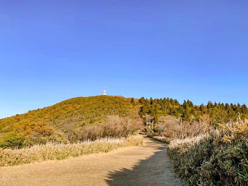 暫く進むと金冠山の山頂が見えてきました