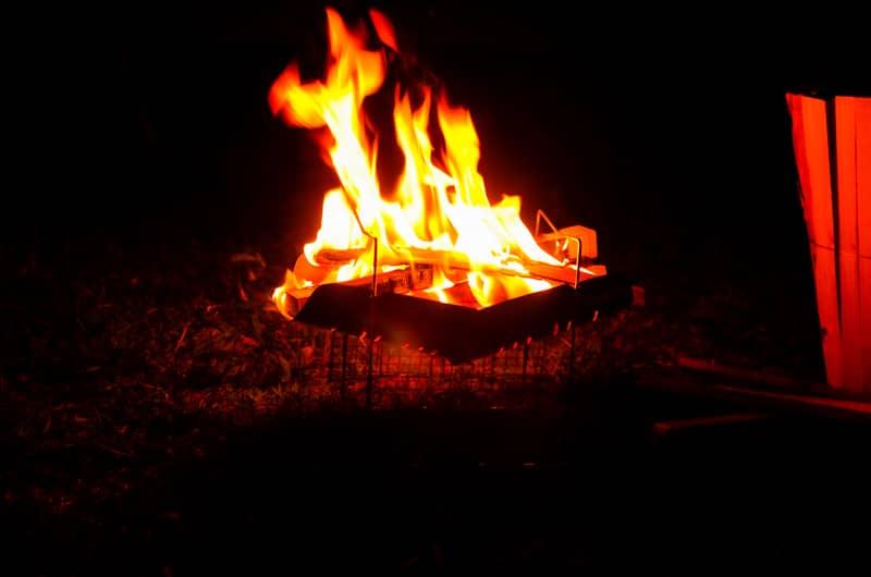焚き火を一発で着火できた時