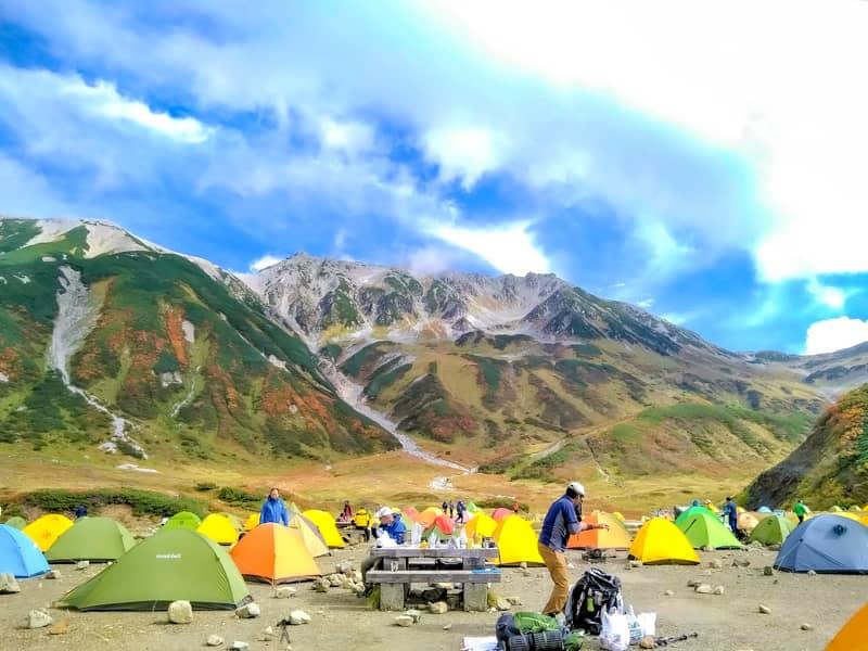 立山とテント場とおっちゃん