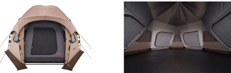 デカゴン500-BAのインナーテントとグランドシート