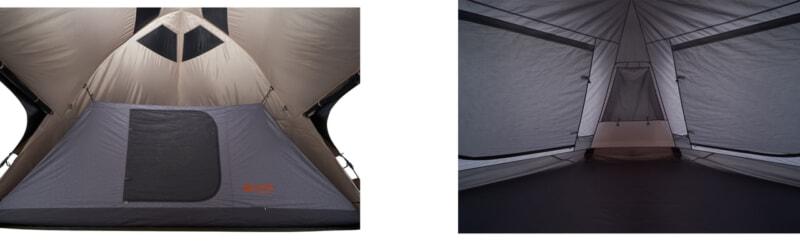 デカゴン500-BAの別売ハーフインナーテント&グランドシート