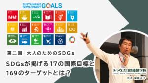 【大人のためのSDGs 第二回】SDGsが掲げる17の国際目標と169のターゲットとは?