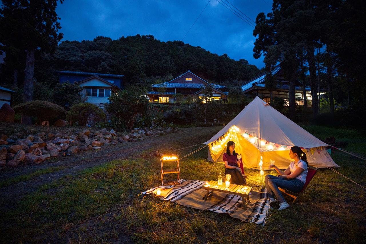 大泰寺でキャンプ