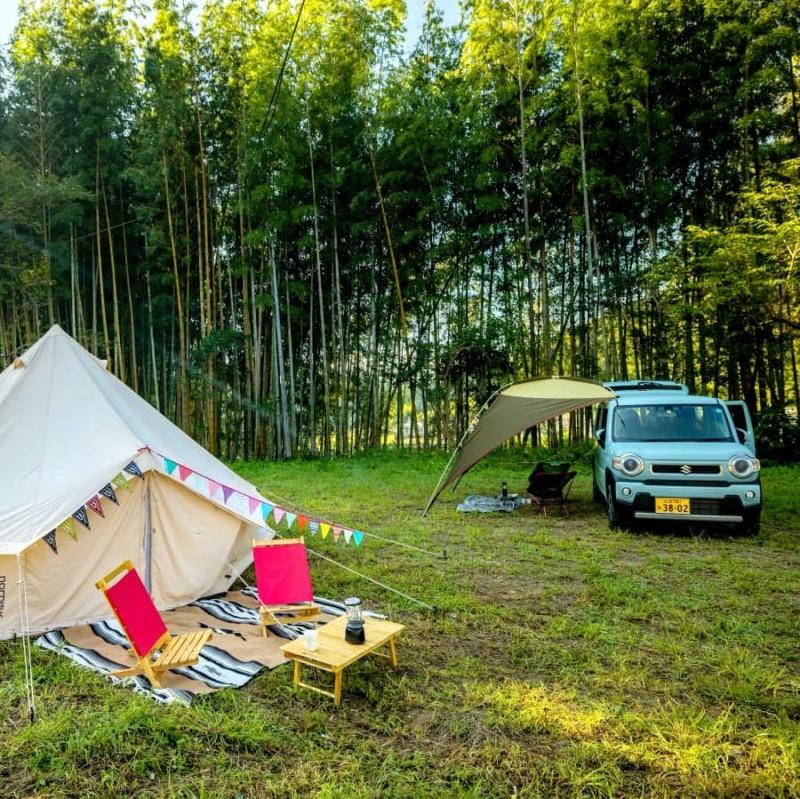 大自然に癒されるキャンプサイト