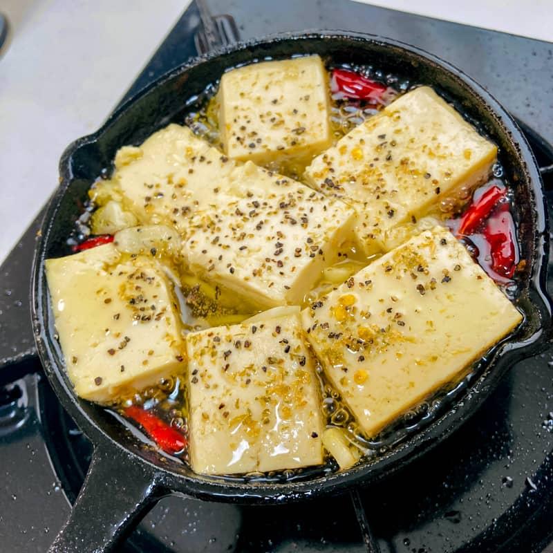 豆腐のアヒージョの作り方