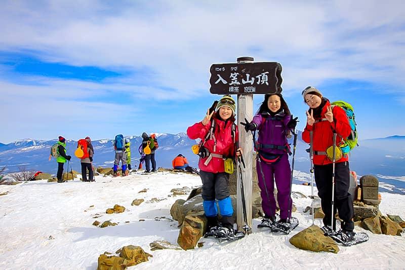 雪山登山入門編の山として有名