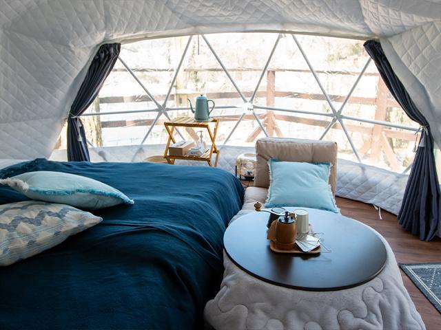 インテリアが選べるドームテント