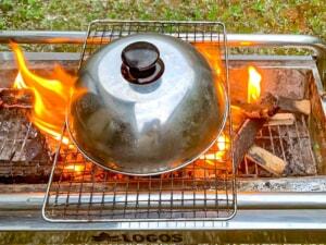 キャンプでピザを焼きたい!ピザ窯の代用になりそうなお好み焼き用ステンレス蓋を試してみた