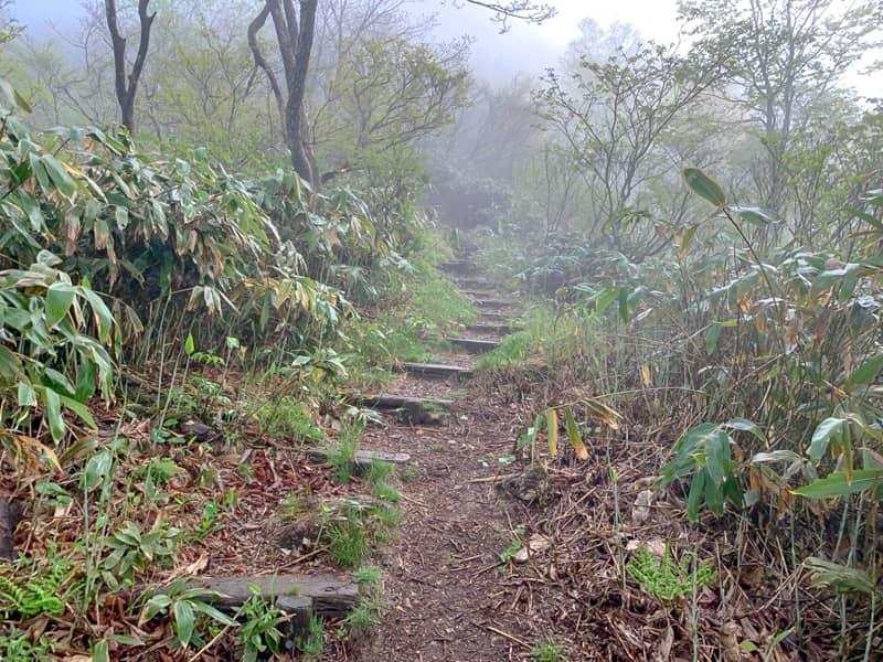 三国峠御坂三社神社から山頂を目指す