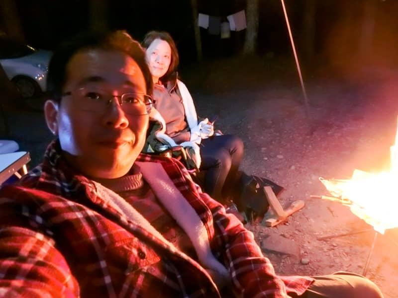 夜の焚火2