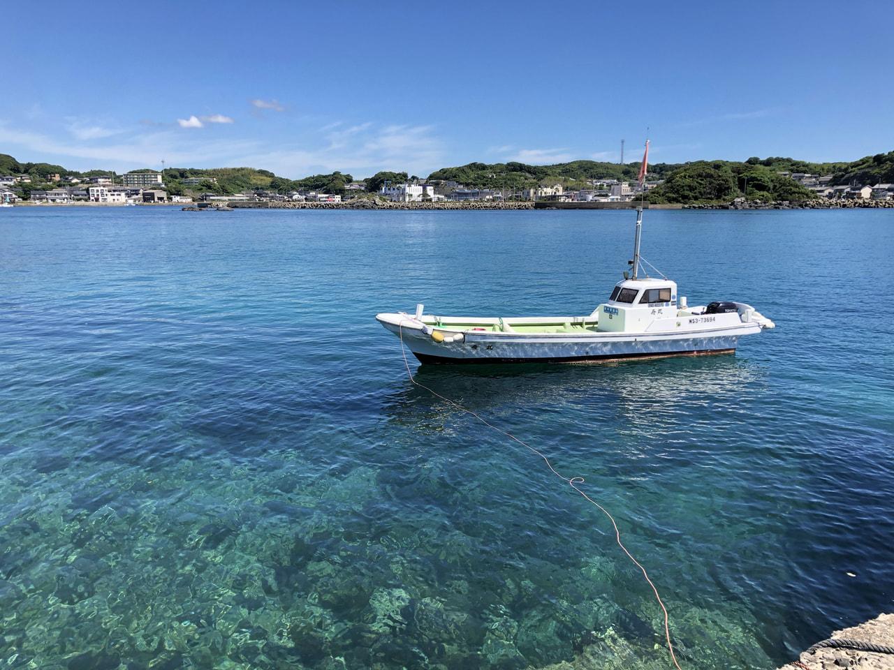 妻ヶ島きれいな海