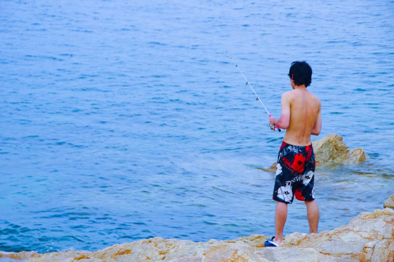妻ヶ島釣り