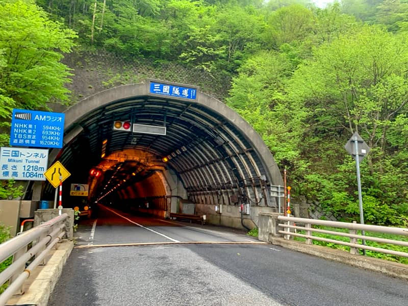 橋を渡ったトンネル手前に登山口があります