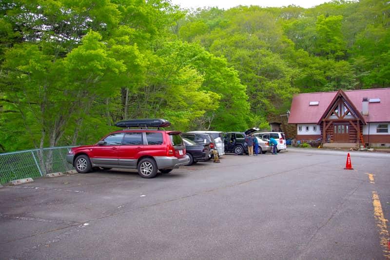 駐車場は、上日川第1~3駐車場まであります