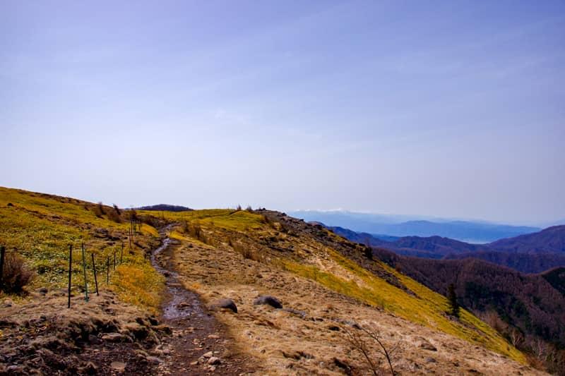 高低差があまり無いのでハイキング気分で進むことが出来る