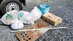 キャンプ場のゴミを持ち帰ろう!茨城県城里町 道の駅かつら隣「ふれあい広場」の美化活動を実施