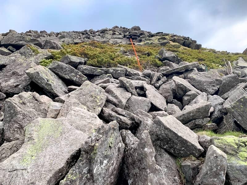 いままでの山道は直登続きでしたが
